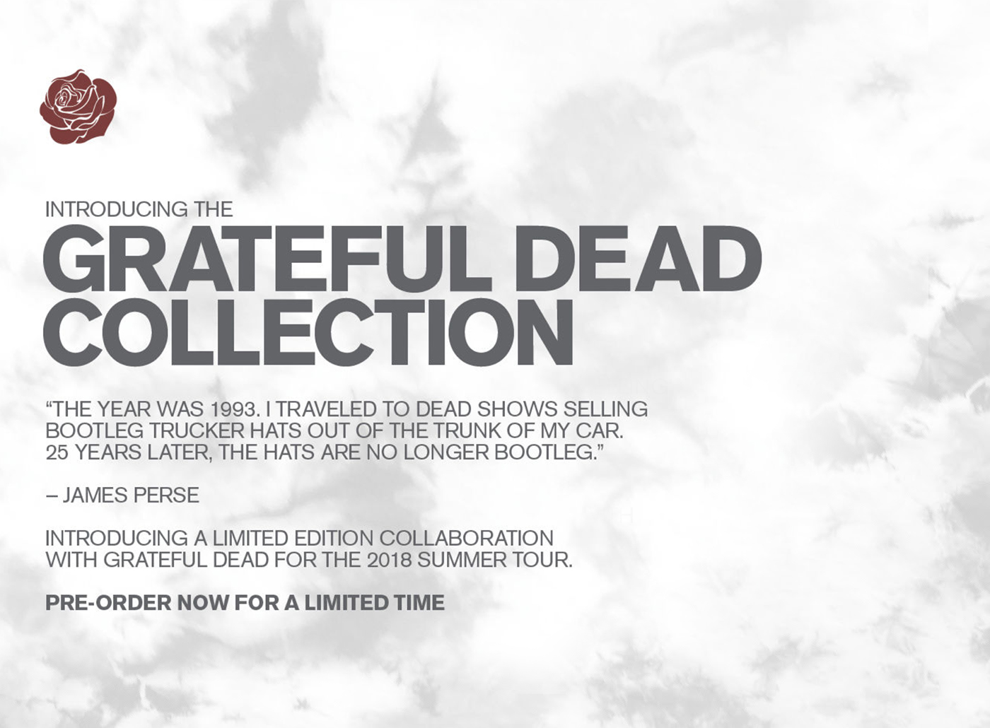 88777969f90 James Perse  For A Limited Time Only  Pre-Order The Grateful Dead ...