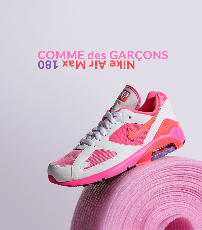 47b255fc381 Loit  Comme des Garçons x Nike Air Max 180
