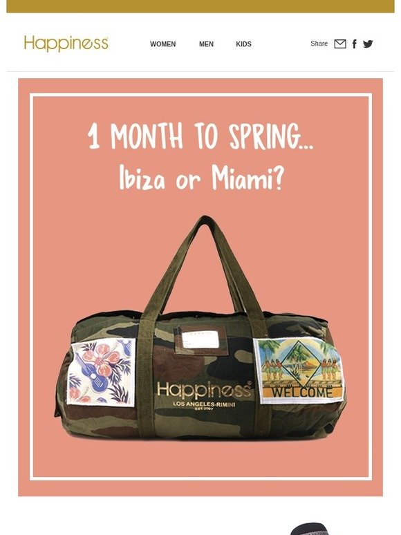 Happiness PRM  1 month to spring...Ibiza or Miami   c786a226c08e