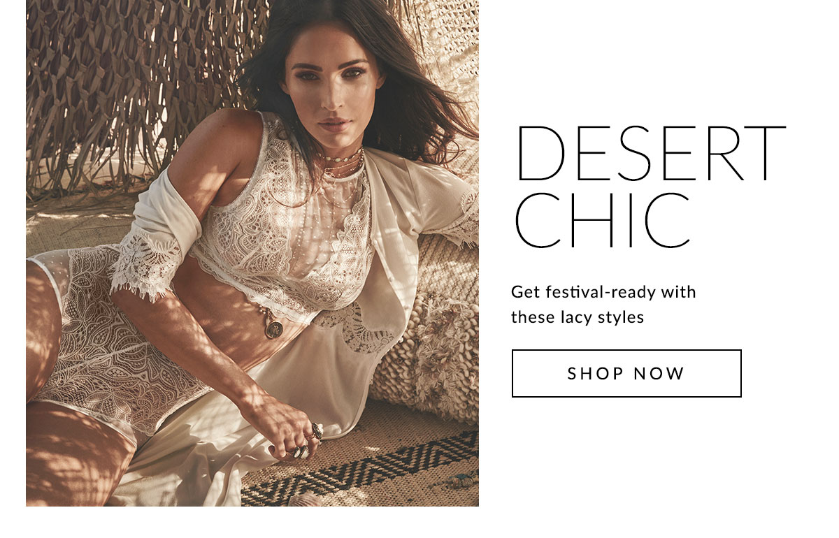 Desert Chic | Get festival-ready with these lacy styles | Shop Now
