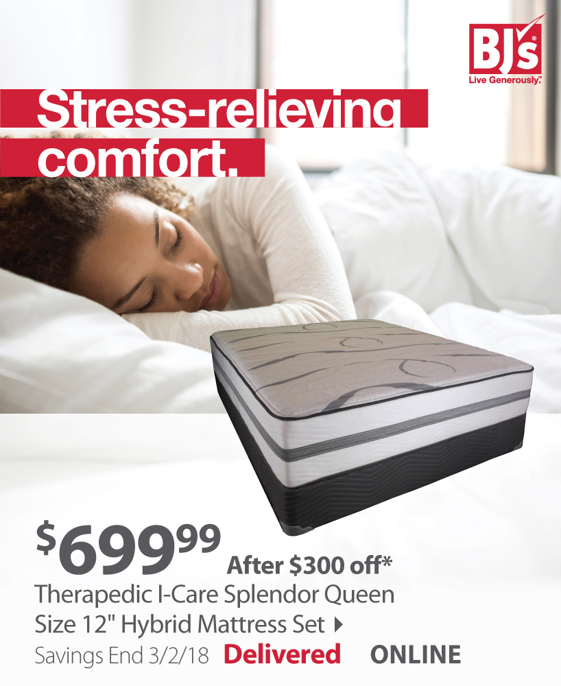 bjs wholesale club 300 off sleep comfortably on a new mattress