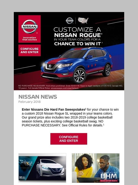 Nissan: Here's your chance to win a custom 2018 Nissan Rogue | Milled