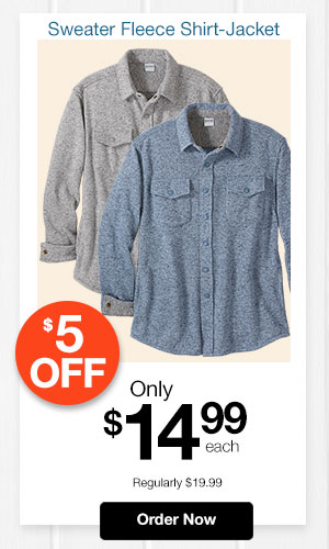 Sweater Fleece Shirt-Jacket