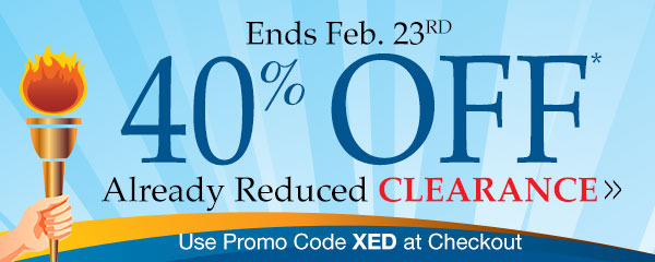 40% Off Already Reduced Clearance