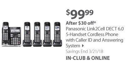 Panasonic 5-Handset Cordless Phones