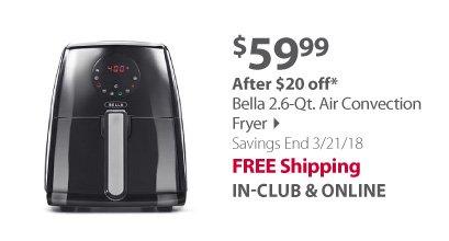 Bella 2.2 Qt.Digital Air Fryer