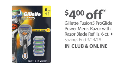 Gillette Fushion ProSheild or ProGlide Razor Handle with 6-ct Razors