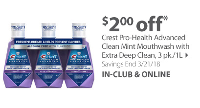 Crest ProHealth or Crest with Scope Rinse