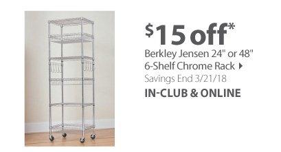 Berkley Jensen Chrome Racking 6-Shelf 24