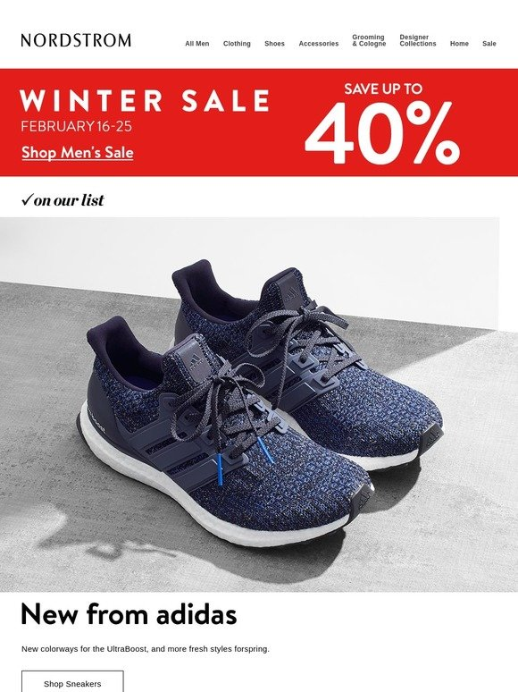 2549bd0177676 Nordstrom  New adidas UltraBoost sneakers are here    Winter Sale  up to  40% off