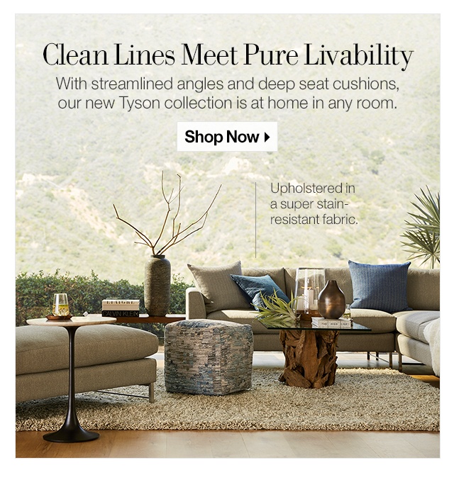 Crate And Barrel Meet Tyson Our Newest Upholstery Collection Milled