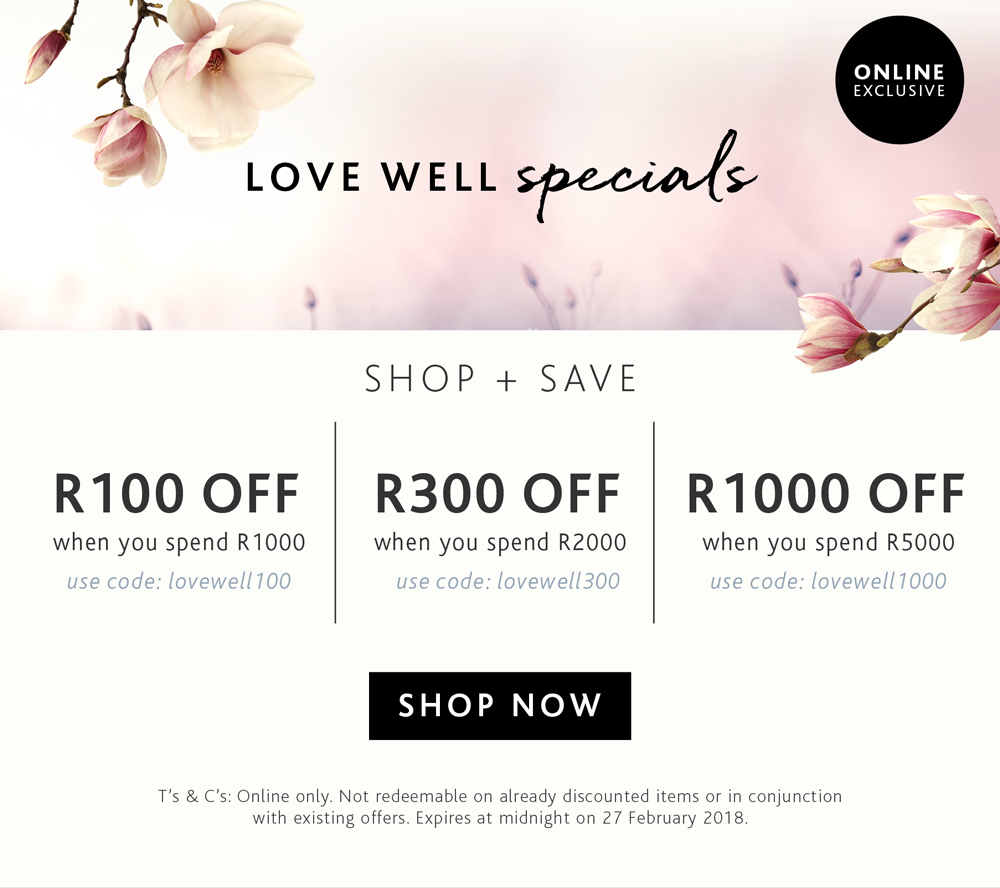 Love Well This February with savings up to R1000