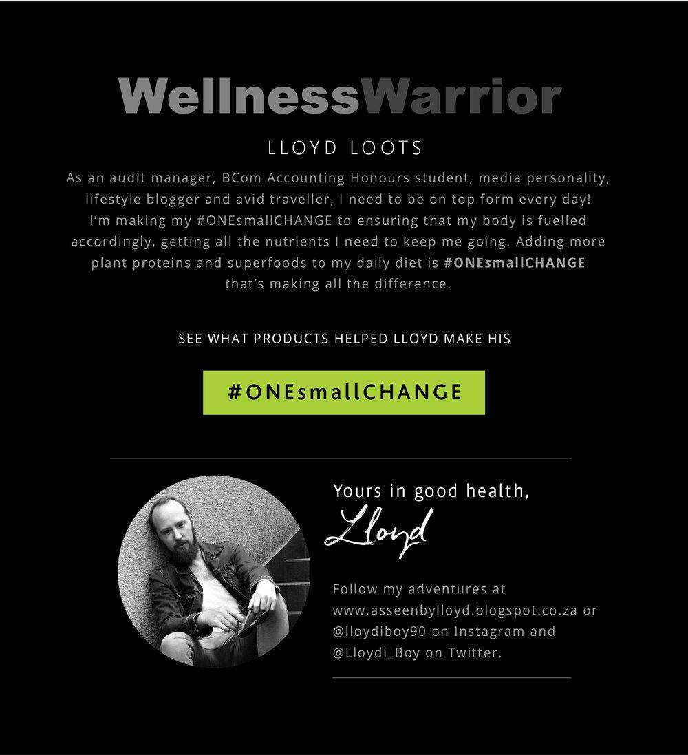 Wellness Warrior Lloyd Loots