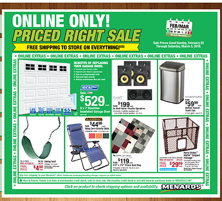 Menards Online Only Priced Right Sale Happening Now Milled