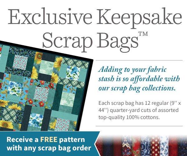 Summer Special Fat Quarter 30-Piece Scrap Bag a Keepsake Quilting Exclusive