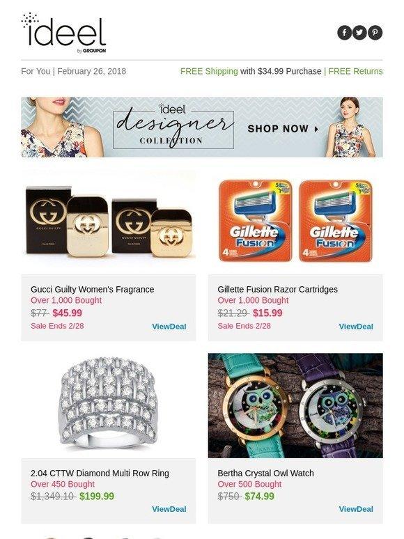 Ideeli: Gucci Guilty Women's Fragrance, Gillette Fusion