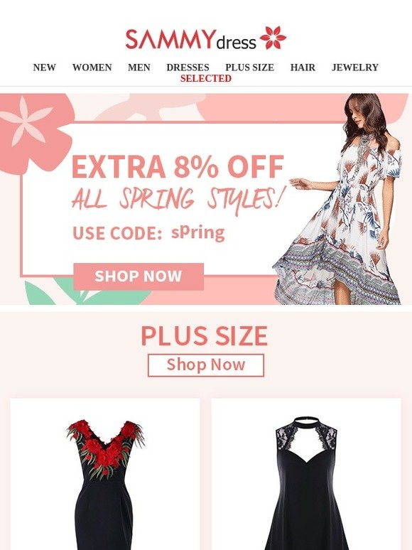 SammyDress.com: You Have An Extra 8% Off Coupon! | Milled