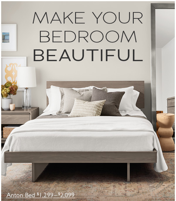 Room & Board: New! Bedroom collection in four wood choices ...