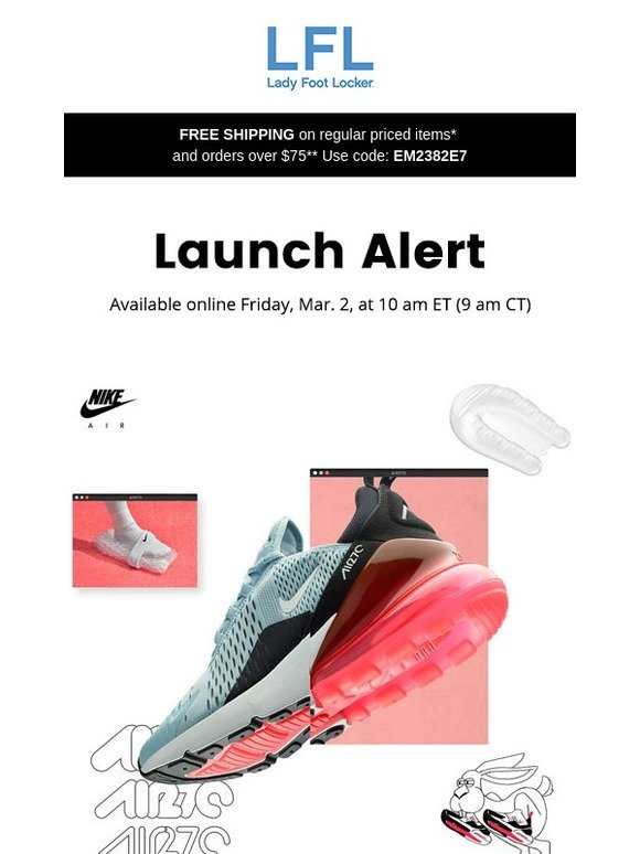 timeless design 72523 b30f5 Lady Foot Locker: Nike Air Max 270 – available 3.2 | Milled