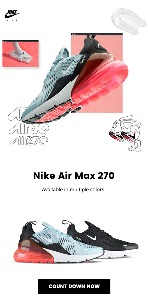 timeless design cfadc 60cc4 Lady Foot Locker: Nike Air Max 270 – available 3.2 | Milled