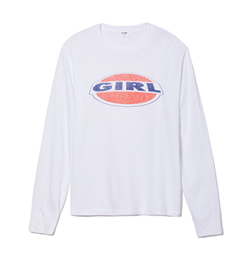 RE/DONE Long-Sleeve Girl Graphic Tee $135