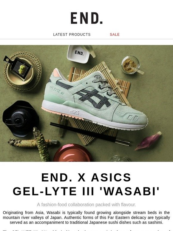 uk availability c2090 2c7b1 End.: END. x ASICS GEL-LYTE III 'Wasabi' - Register now | Milled