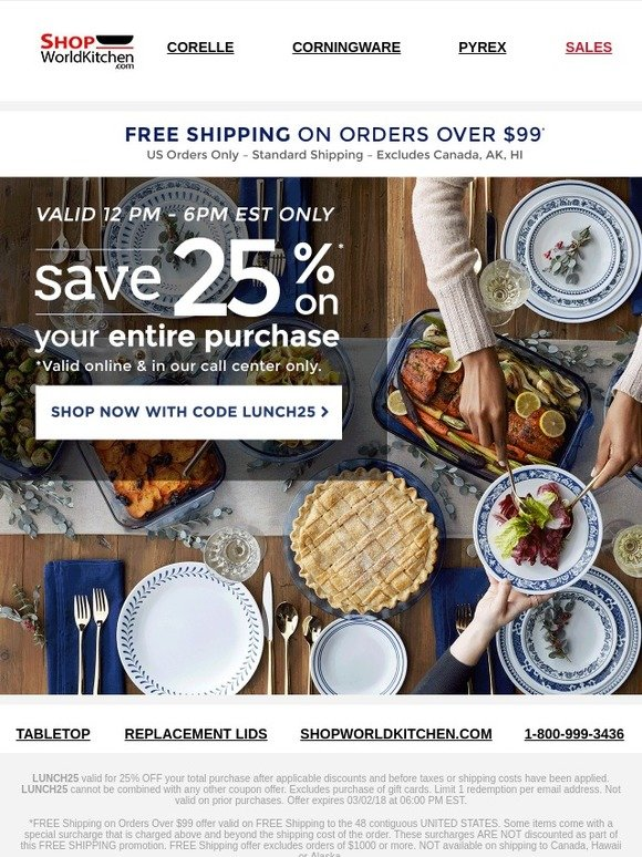 Shop World Kitchen: TGIF! Celebrate With 25% Off Flash Sale | Milled