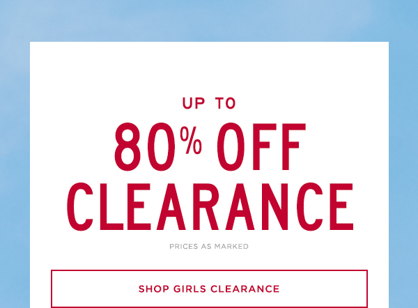 Up To 80% Off Girls Clearance