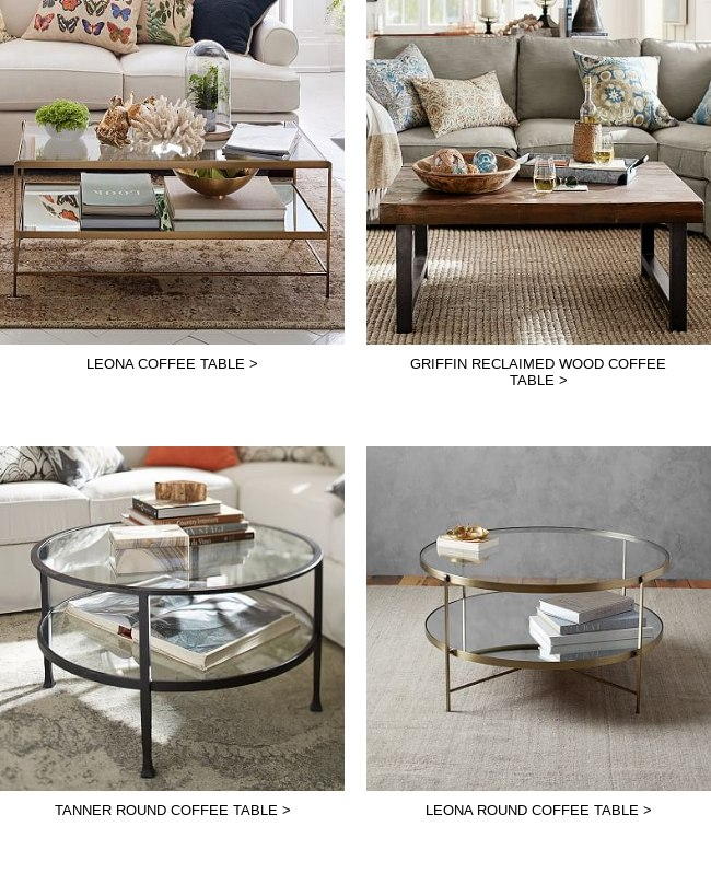 Pottery Barn Editors Picks MustHaves And Theyre All Off - Pottery barn leona coffee table