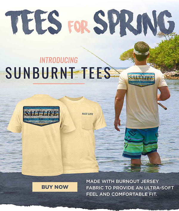 Don't miss out on our new sunburnt tees.