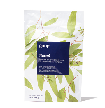 Nurse! Under the Weather Bath Soak, goop body, $35