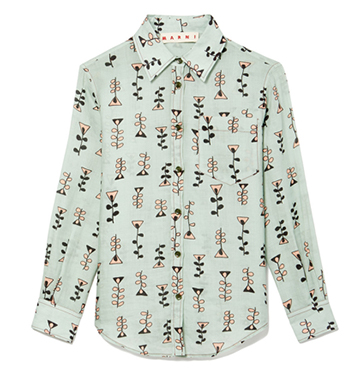 Marni Button-Down Printed Blouse $858