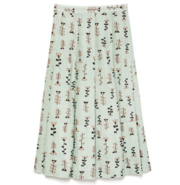 Marni Pleated Printed Skirt $1,437