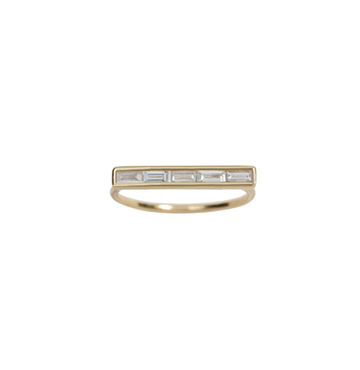 Ariel Gordon Baguette Diamond Ring $1,695