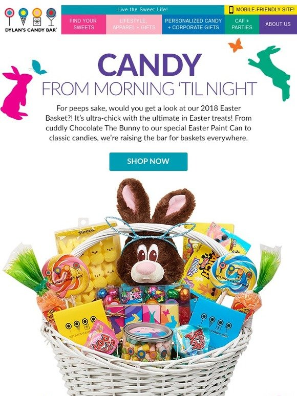 Dylans candy bar our kind of easter basket milled negle Choice Image