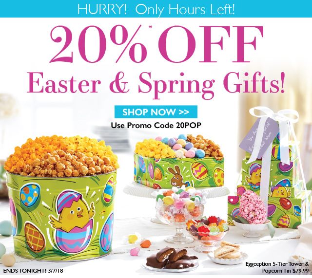 The popcorn factory last chance 20 off easter spring gifts the popcorn factory last chance 20 off easter spring gifts milled negle Choice Image