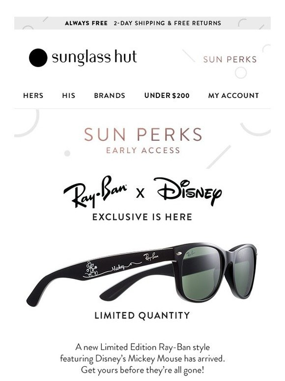 a095258e83ed Sunglass Hut: The Wait is Over! Disney's Mickey Mouse x Ray-Ban is Back |  Milled