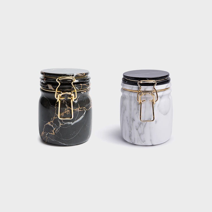 'Miss marble' jars by Lorenza Bozzoli for Editions