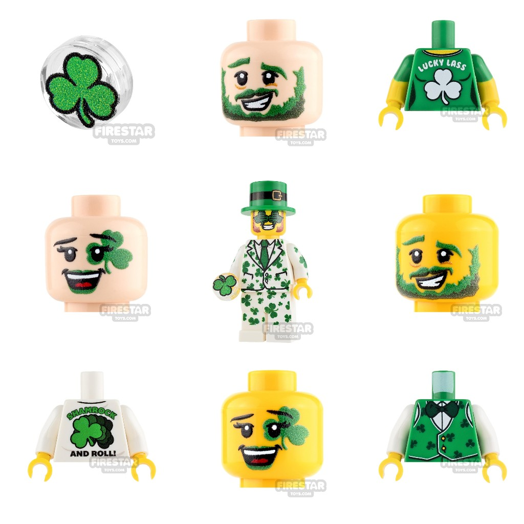 Firestar Toys: St Patrick's Day Minifigure Goodies   Milled