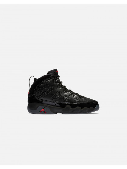 JORDAN AIR JORDAN RETRO 9 PRE-SCHOOL BLACK/UNIVERSITY RED-BLACK