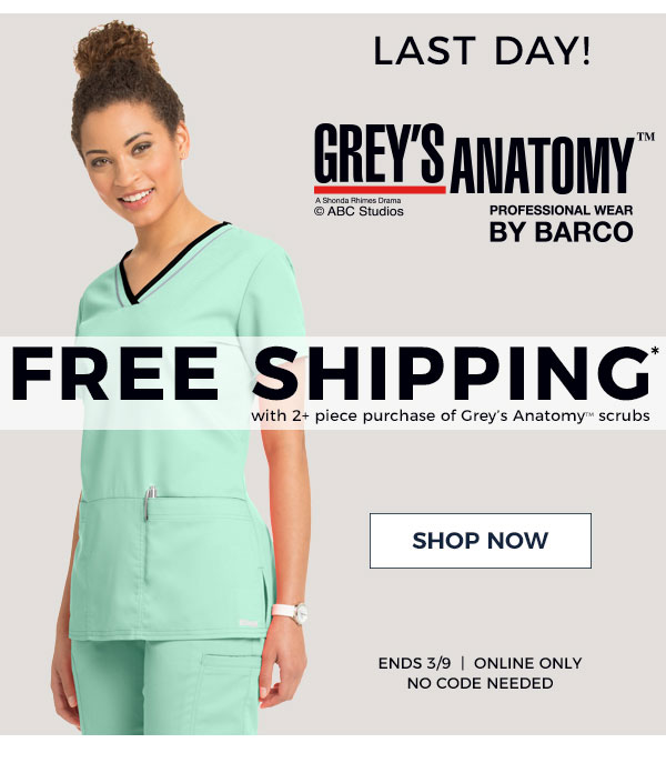 Life Uniform Final Hours Free Shipping With Greys Anatomy Ends