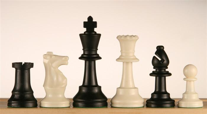 "3 3/4"" Heavy Club & Tournament Chess Pieces"