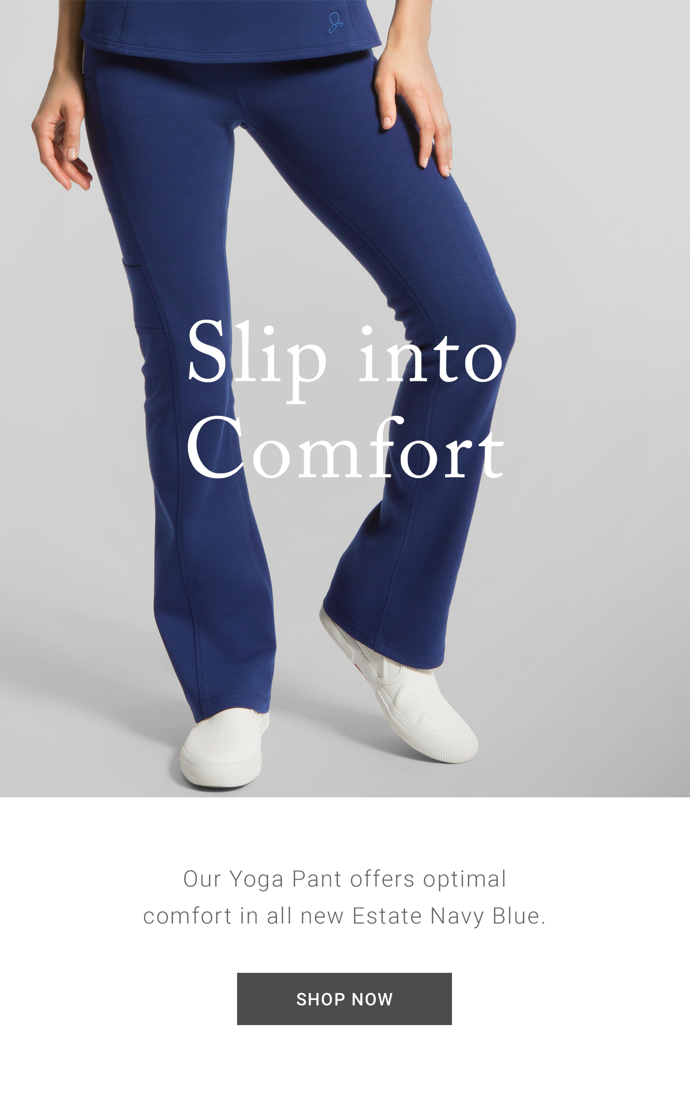 7e09a68f248 The Ponte Yoga Pant · Now Available in Estate Navy Blue