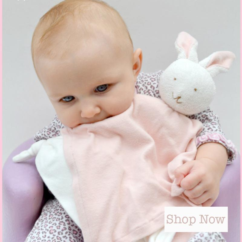 The ultimate green store organic stuffed animals gifts for your organic cotton baby coordinates pink blanket bunny outfits negle Choice Image