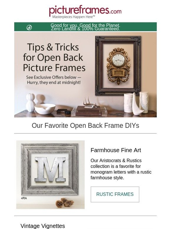 Pictureframes.com: Open Back Frames: Discover the Possibilities | Milled