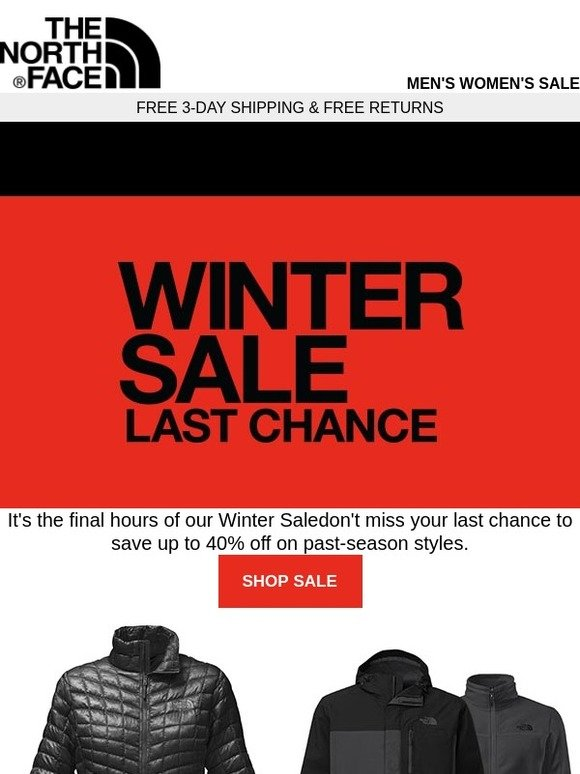 The North Face  Last chance to save up to 40% off on past-season styles...   527442137