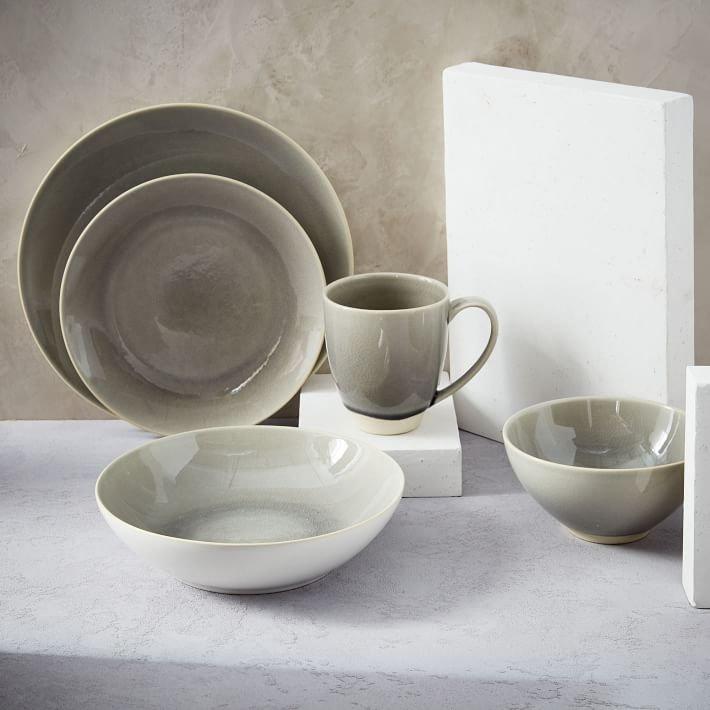 Alta Crackle Glaze Dinnerware Set - Light Gray & West Elm: Back in stock: Alta Crackle Glaze Dinnerware Set - Light ...