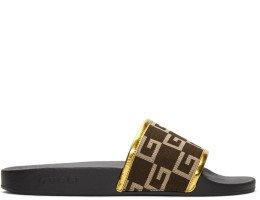 Gucci - Brown Pursuit Logo Slides