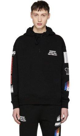 Alexander Wang - SSENSE Exclusive Black Sponsored Hoodie