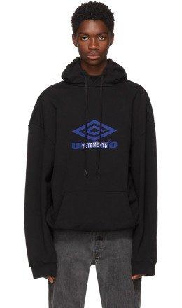 Vetements - Black Umbro Edition Oversized Hoodie